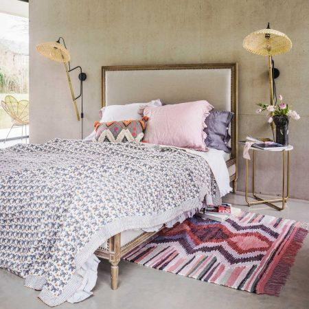 Lilian Natural Linen King Size Bed