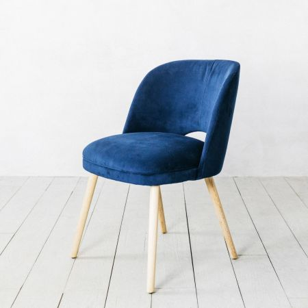 Marley Navy Velvet Chair