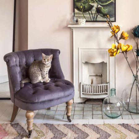 Trianon Grey Velvet Chair