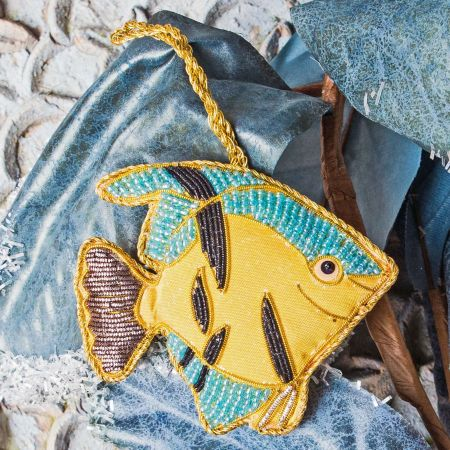 Yellow Angel Fish Decoration
