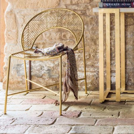 Antiqued Gold Morganna Chair