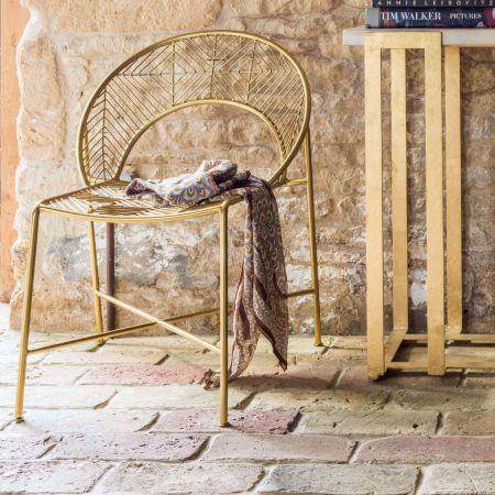 Antiqued Gold Morganna Chair
