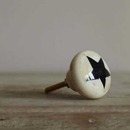 Round Bone Star Door Knob
