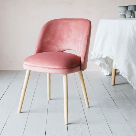 Marley Rose Velvet Chair