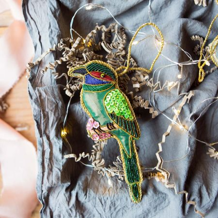 Green Bird Decoration