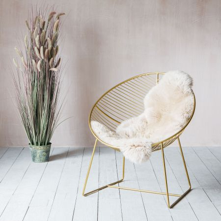 Enzo Gold Lounger Chair