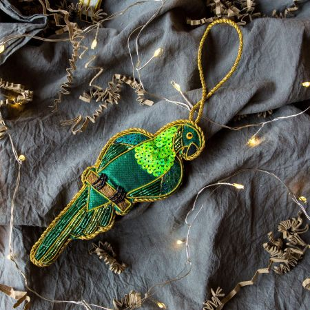 Green Parrot Decoration