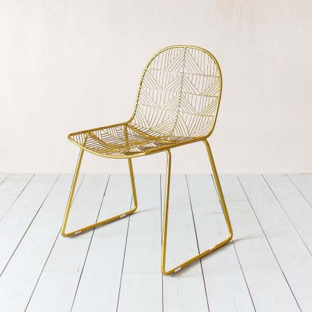 Calypso Gold Wire Chair - Thumbnail
