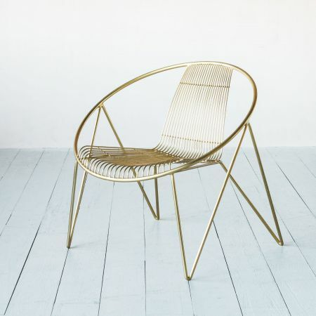 Menora Gold Chair