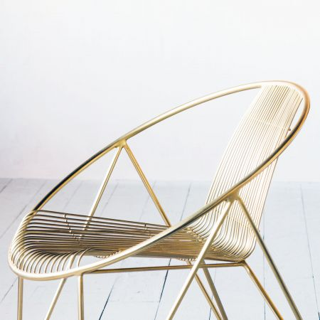 Menora Gold Chair