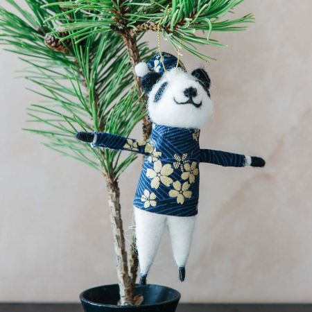 Haru Panda with Blue Top Decoration