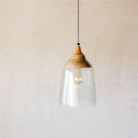 Wallis Wood and Glass Pendant