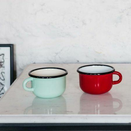 Enamel Espresso Mugs
