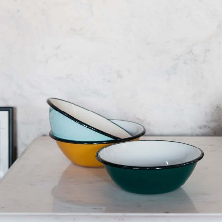 Large Enamel Bowls