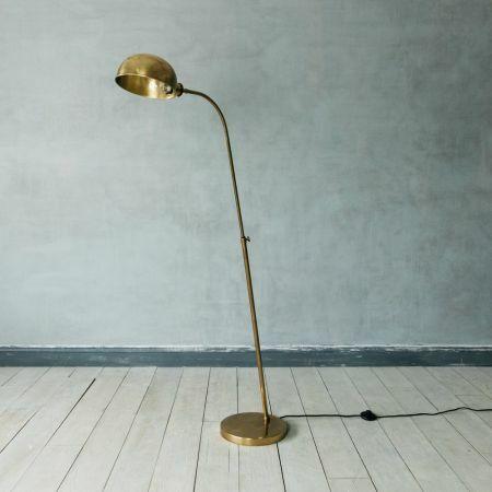 Antiqued Brass Floor Lamp