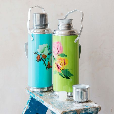 Blue Thermos Flask