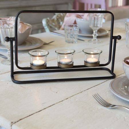 Iron Tea Light Holder