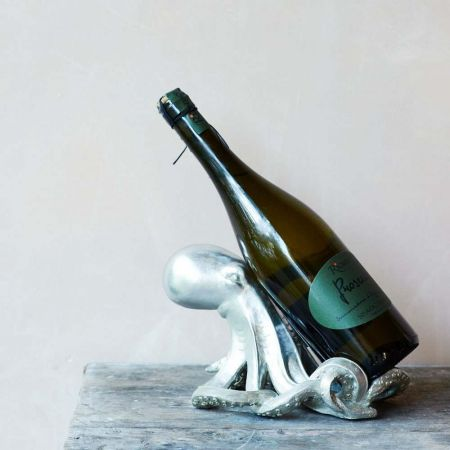 Silver Octopus Wine Holder