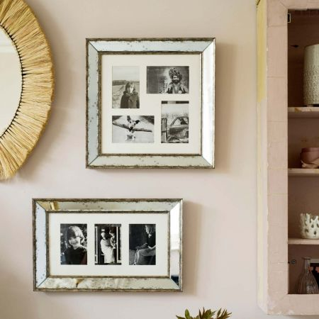 Antiqued Glass Photo Frames