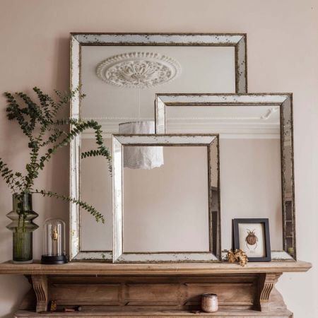Antiqued Glass Mirrors