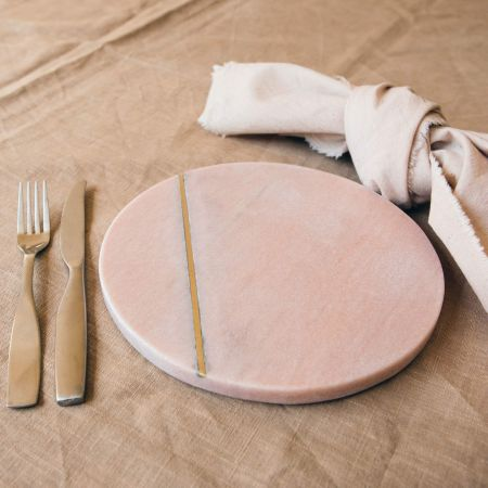 Tess Pink and Brass Placemat