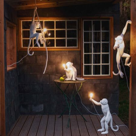 Outdoor White Monkey Lights