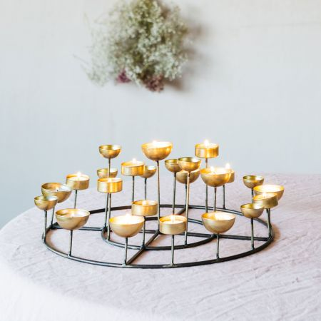 Round Multi Tea Light Holder