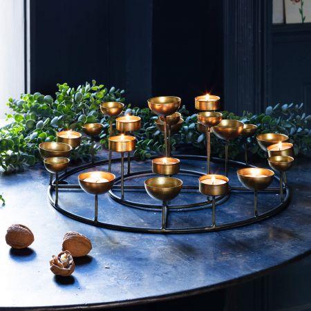 Round Multi Tea Light Holder