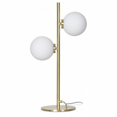 Globe and Gold Table Lamp