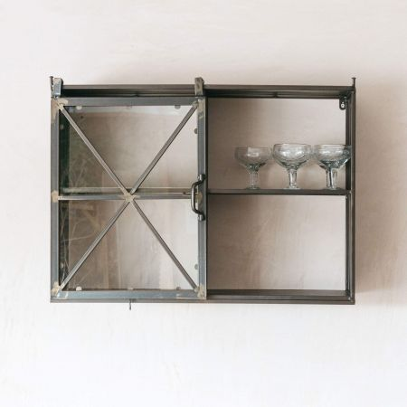 Double Iron Wall Cabinet