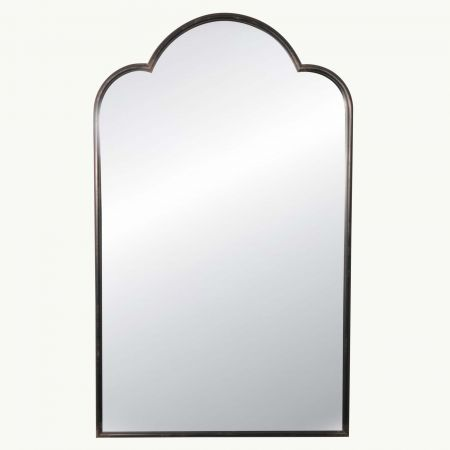 Scallop Top Antiqued Mirror