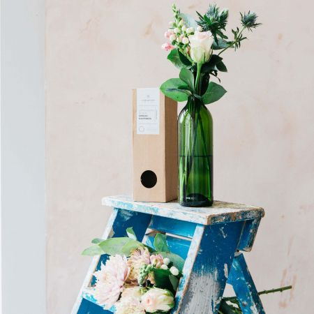 Recycled Wine Bottle Vase