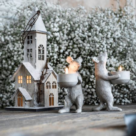 Matty & Maisie Mouse Tea Light Holders