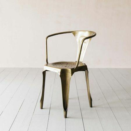 Isaac Brass Armchair