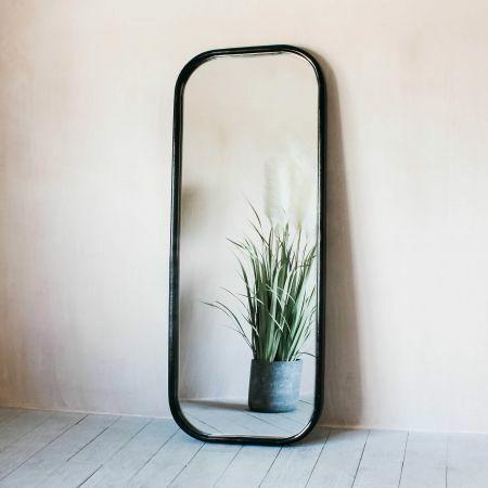 Walter Large Dark Wood Mirror