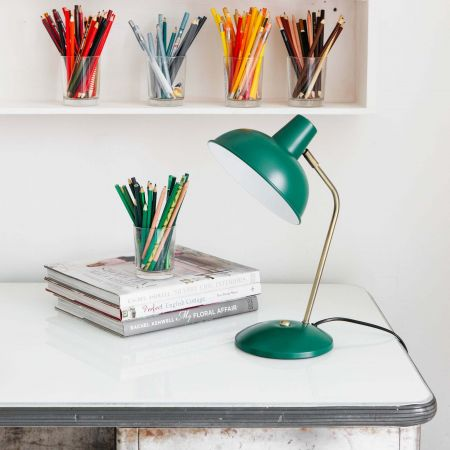 Dark Green Hood Table Lamp