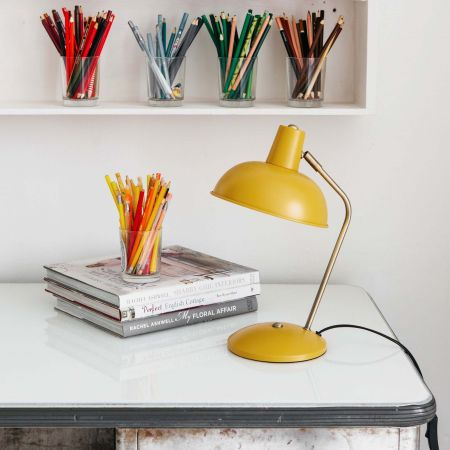 Mustard Hood Table Lamp