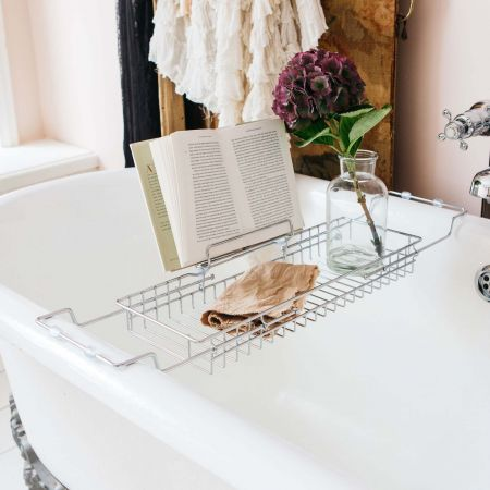 Chrome Bath Caddy with Stand