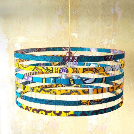 Zuri Extra Large Blue and Yellow Pendant