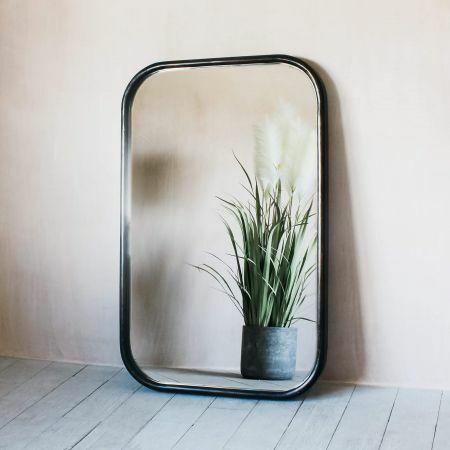 Walter Medium Dark Wood Mirror