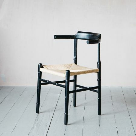 Black Elm Wood and Paper Chair