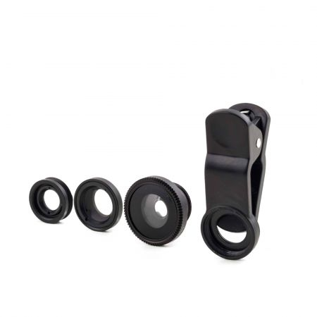 Set of Three Clip On Phone Lenses