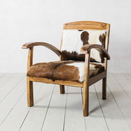 Goat Hide Armchair - Thumbnail
