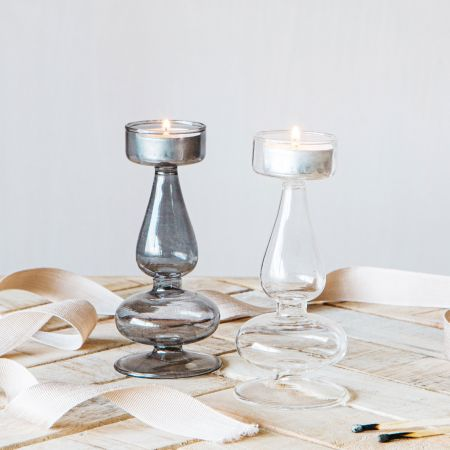 Alia Glass Tealight Holders