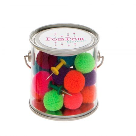 Set of Eighteen Pom Pom Push Pins