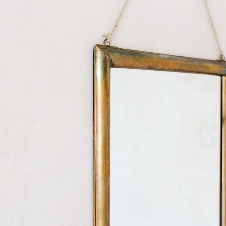Antique Bronze Hanging Mirror