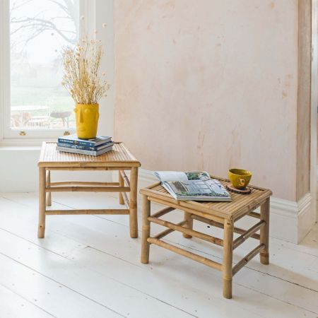 Thea Set of Two Short Bamboo Tables