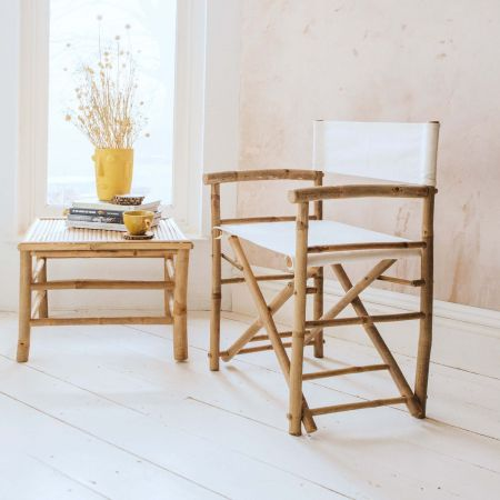 Thea Bamboo and Linen Directors Chair