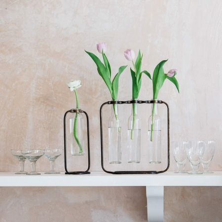 Set of Three Bottle Bud Vases