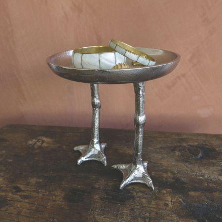 Silver Duck Feet Dish